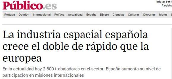 La industria espacial española crece el doble de rápido que la europea